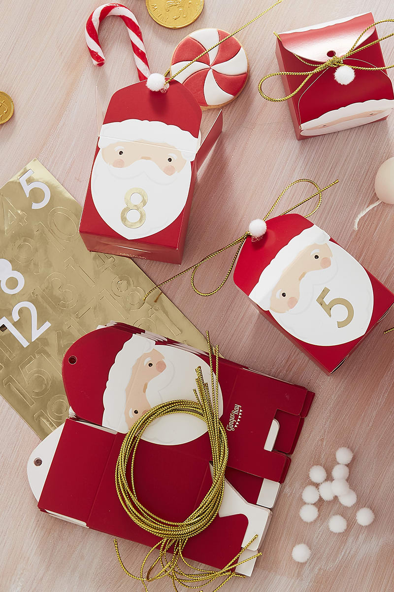 GINGER RAY SANTA ADVENT CALENDAR BOXES