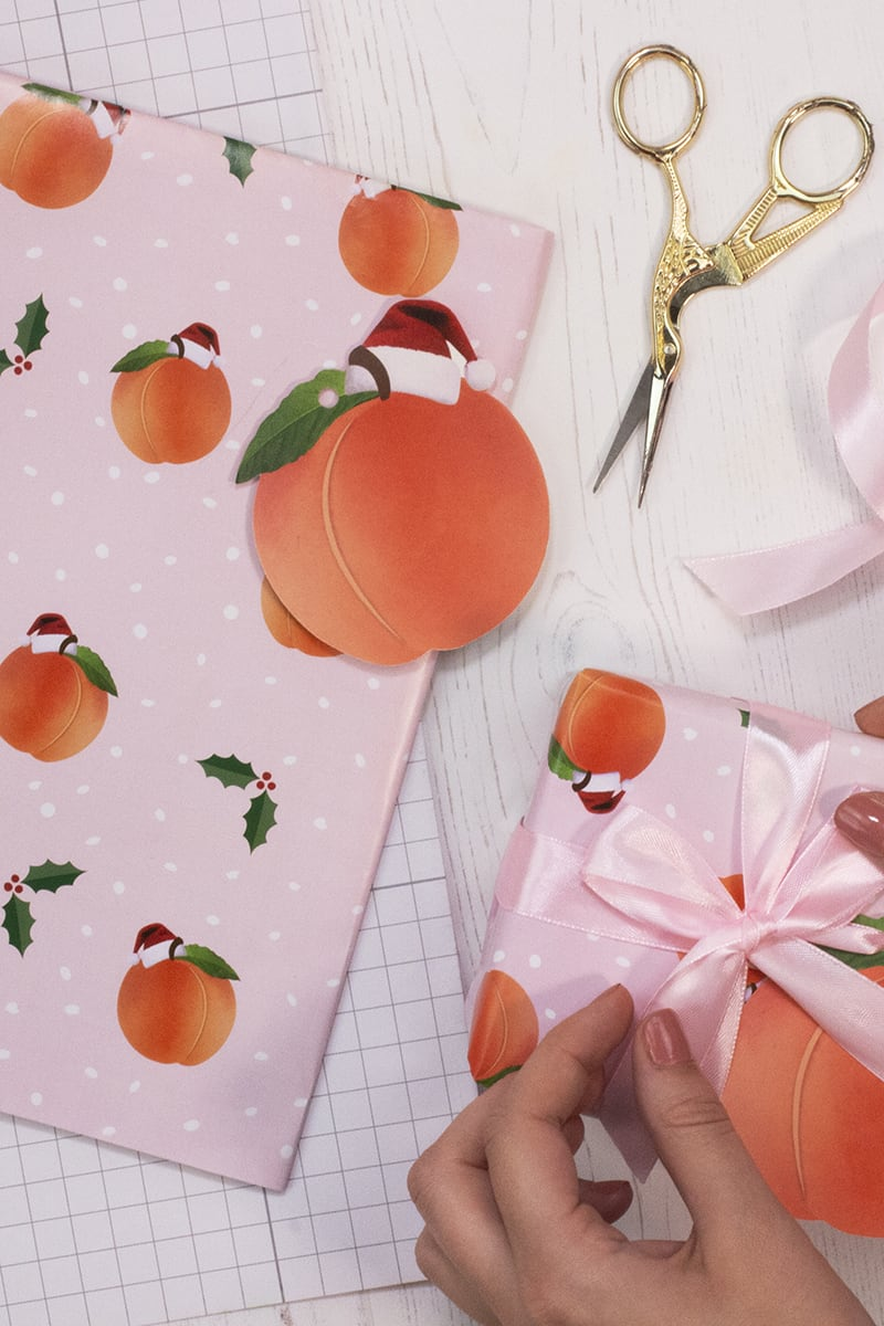 GINGER RAY PEACH CHRISTMAS WRAPPING PAPER KIT