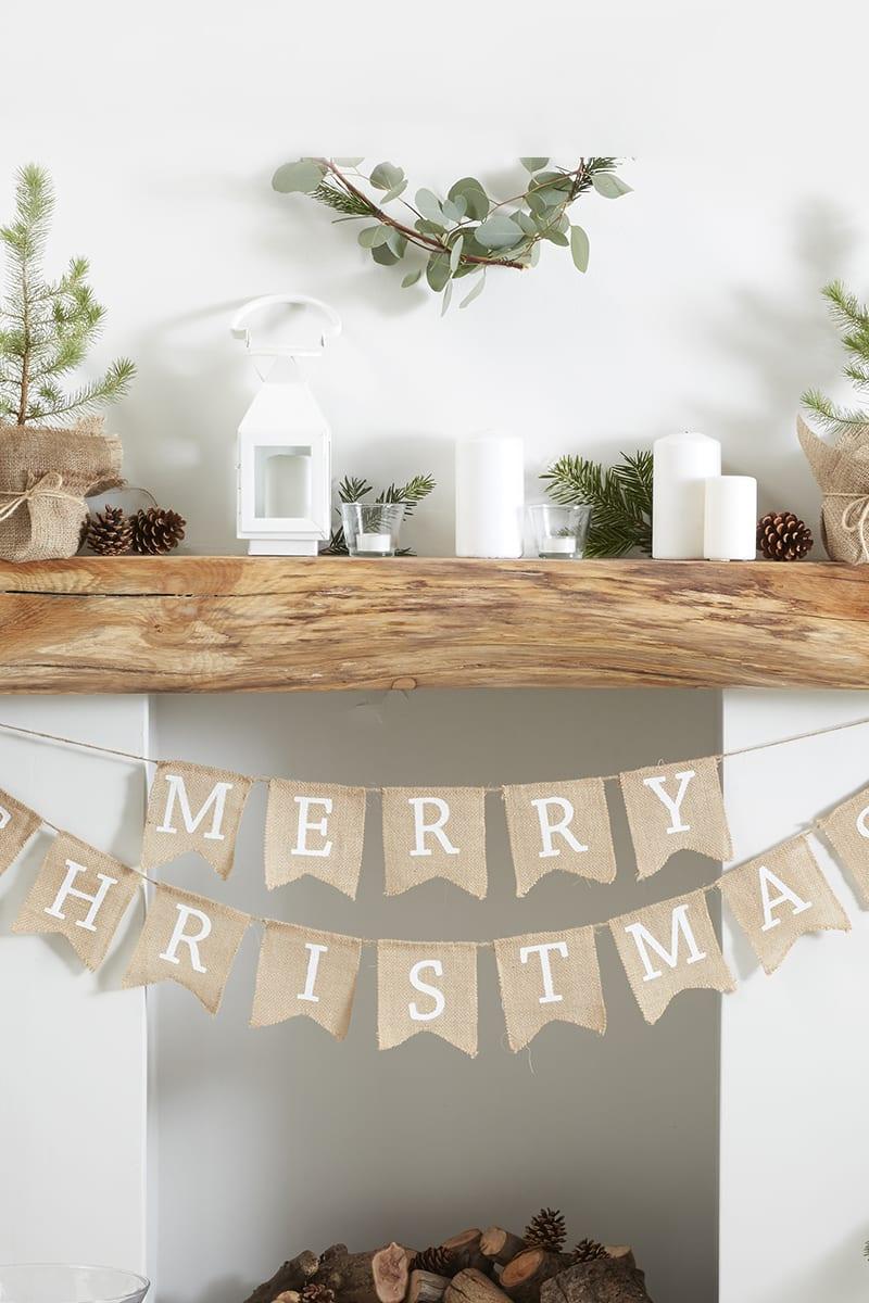 GINGER RAY MERRY CHRISTMAS HESSIAN BUNTING