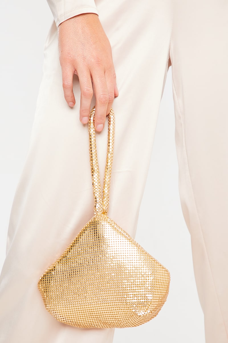 GOLD CHAIN MAIL POUCH BAG
