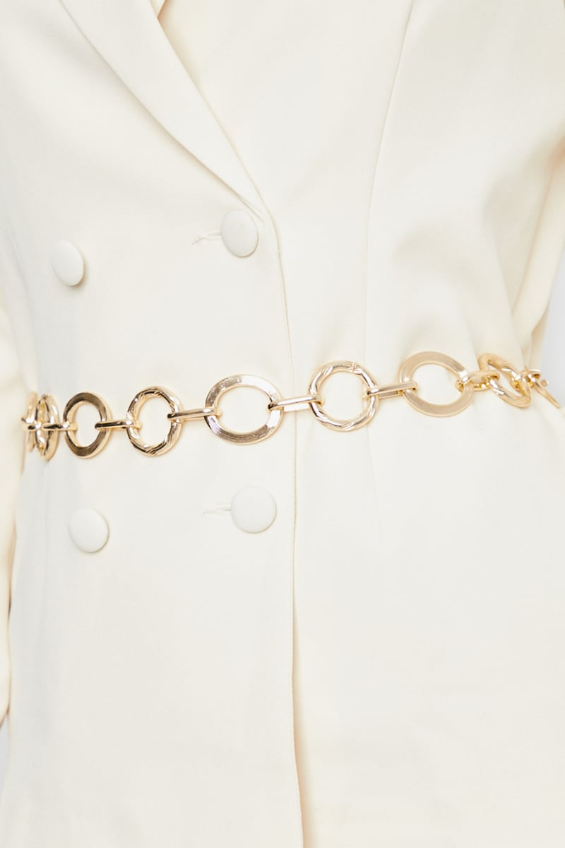 GOLD LINKED CHAIN BELT