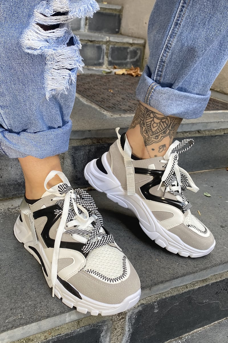 Black And White Chunky Trainers | In