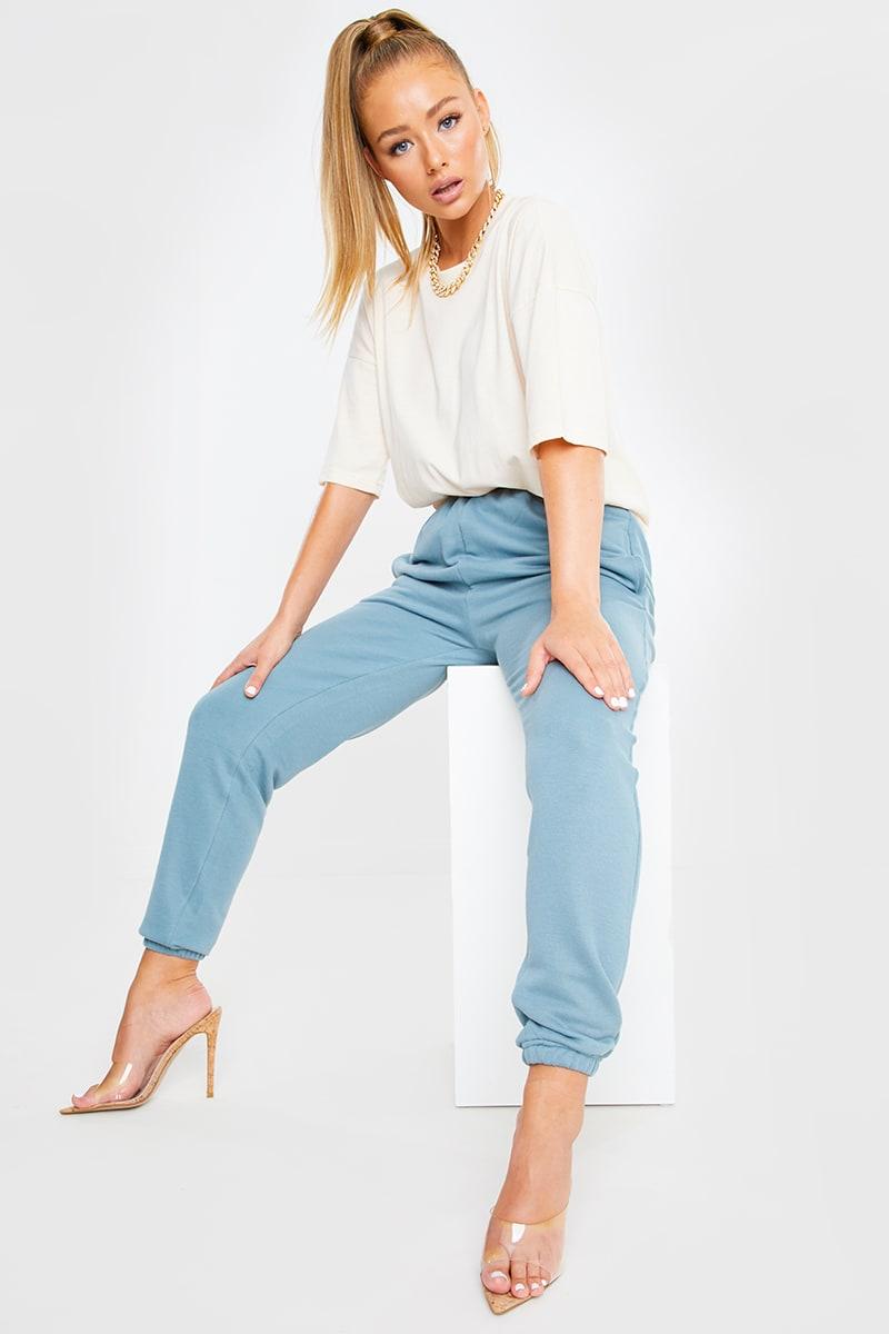 BLUE STRAIGHT LEG JOGGERS