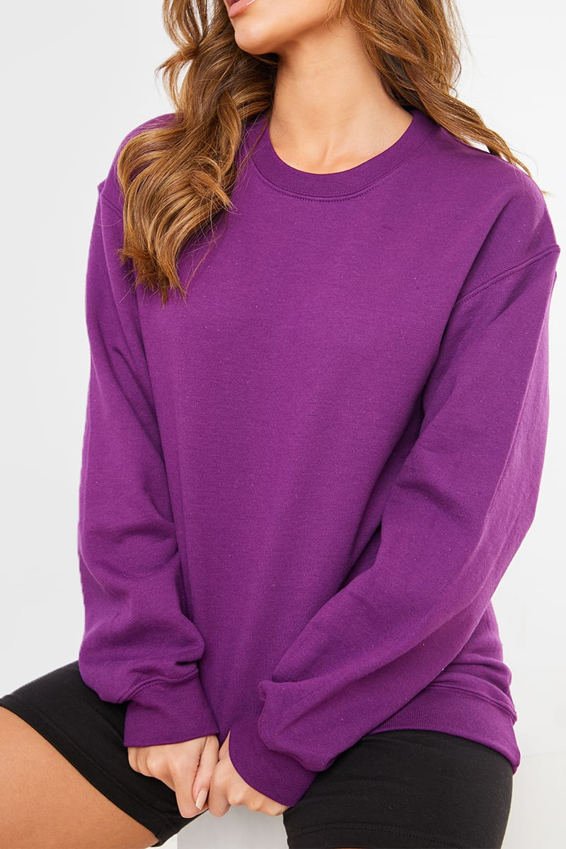 PLUM OVERSIZED SWEATER