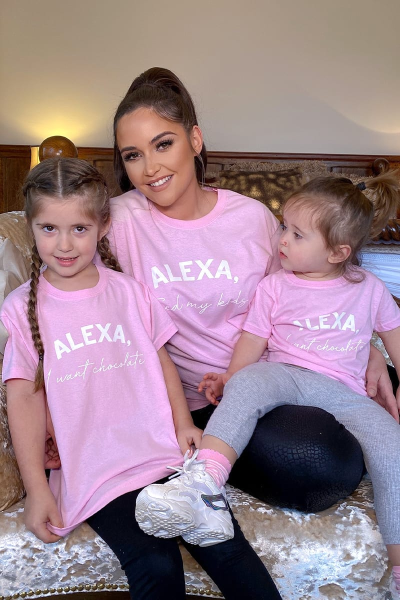 ALEXA FEED MY KIDS PINK TEE