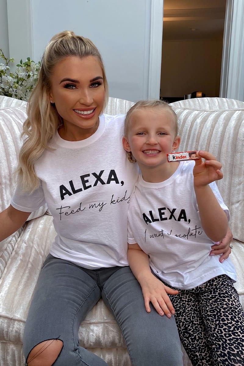 ALEXA FEED MY KIDS WHITE TEE