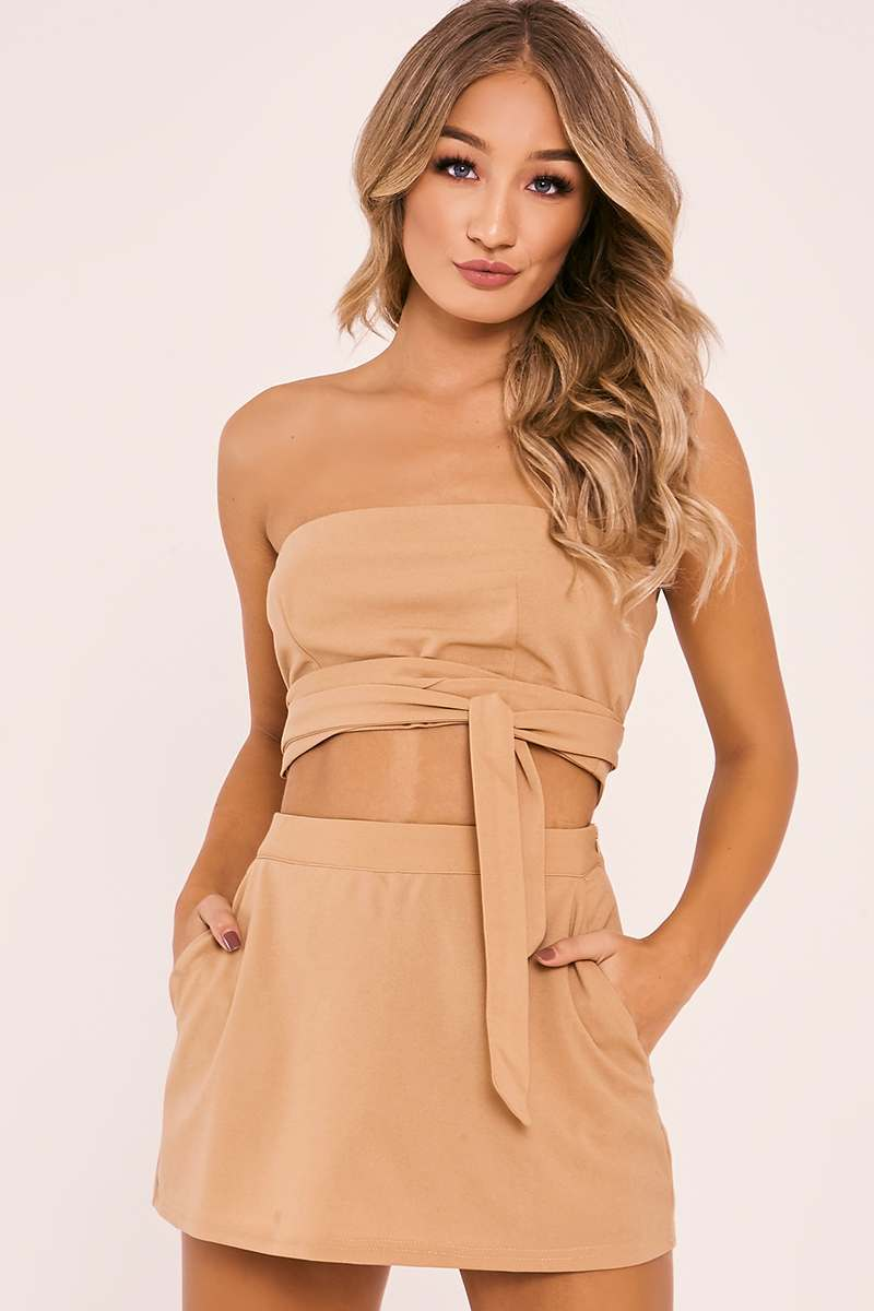 KILLISA CAMEL BANDEAU TOP