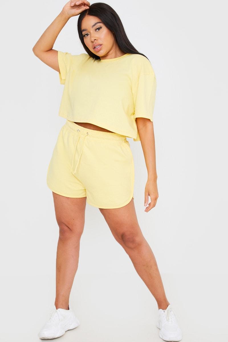 Curve Saffron Barker Yellow Cropped T