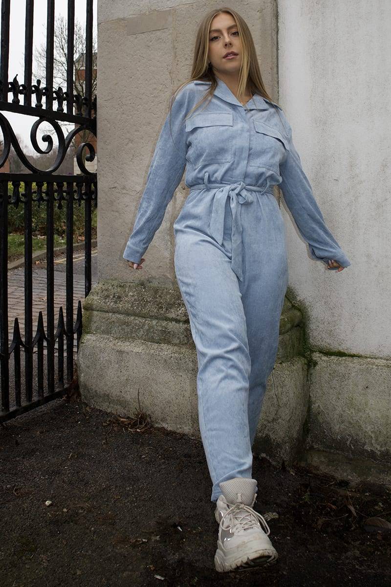 SYD AND ELL BLUE CORDUROY UTILITY BOILERSUIT