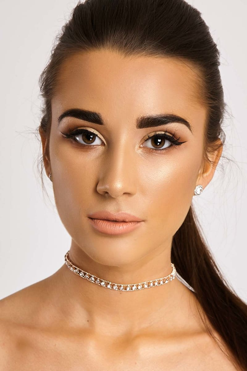 rose gold diamante choker