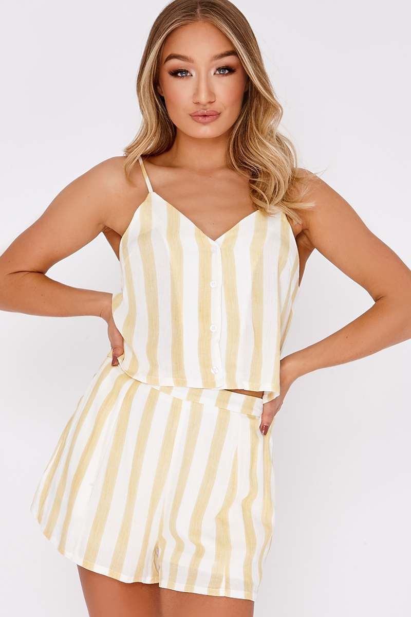 JAMELLE YELLOW STRIPE SHORTS