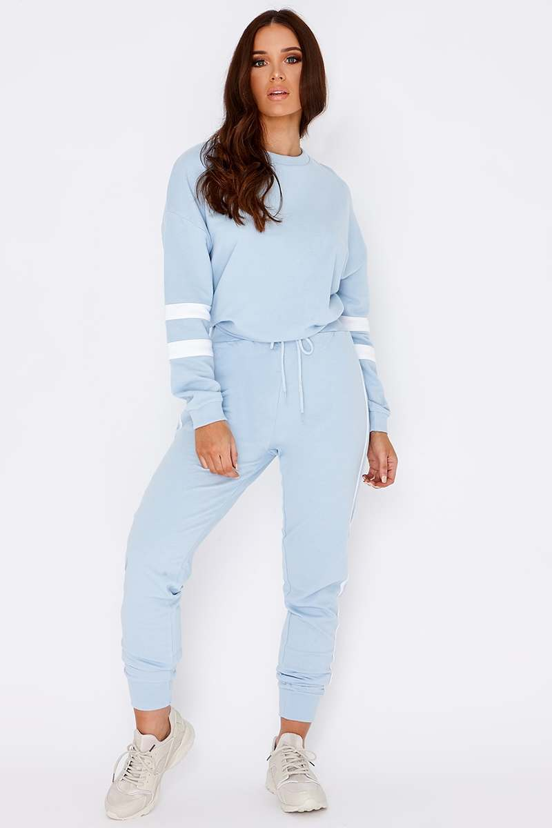 LARMINA BABY BLUE SPORTS STRIPE JOGGERS