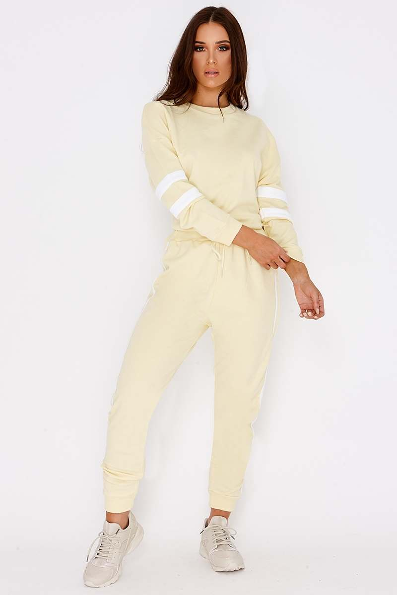 LARMINA LEMON SPORTS STRIPE JOGGERS