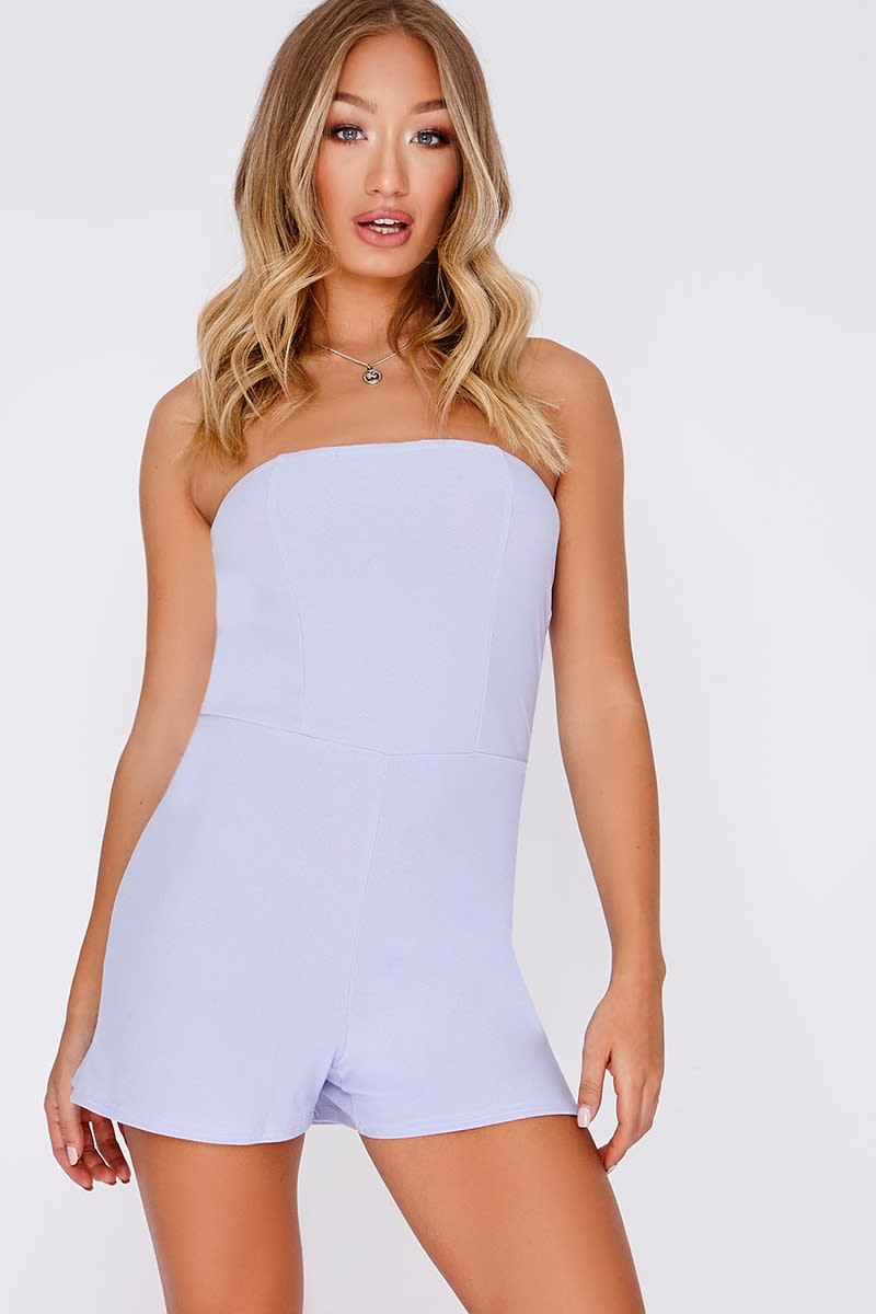BASIC LILAC CREPE BANDEAU PLAYSUIT