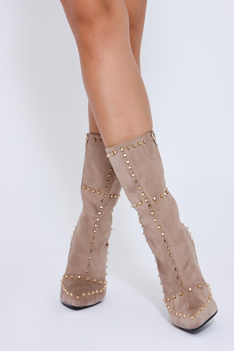 stone studded ankle boots