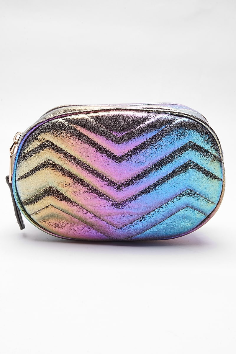 RAINBOW HOLOGRAPHIC BELT BAG