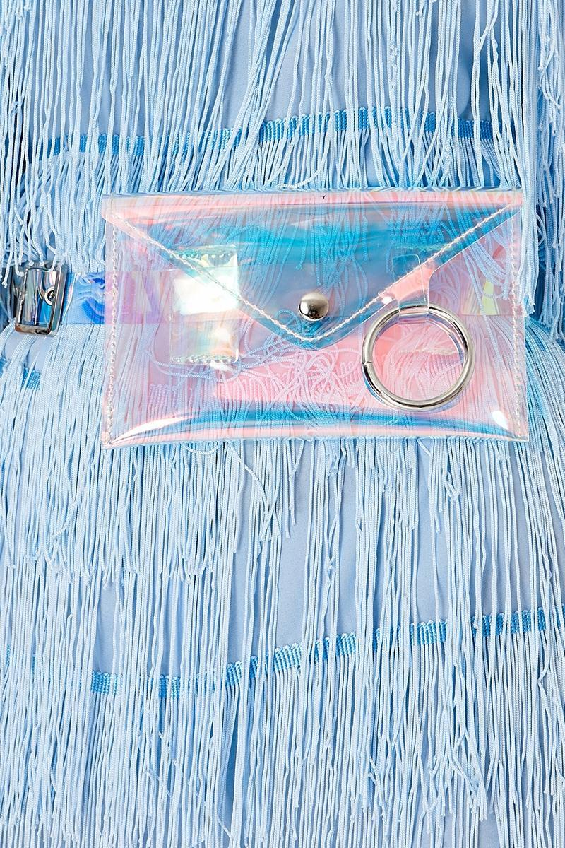 SILVER HOLOGRAPHIC BELT BAG