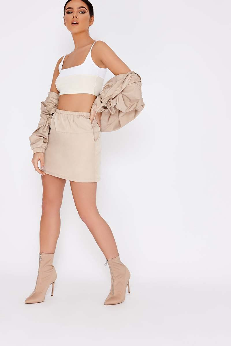 PIA MIA STONE WINDBREAKER MINI SKIRT
