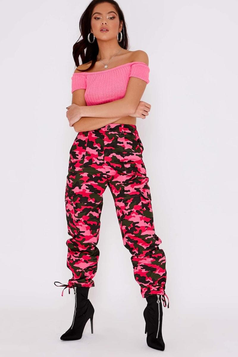 bright pink camo combat pants