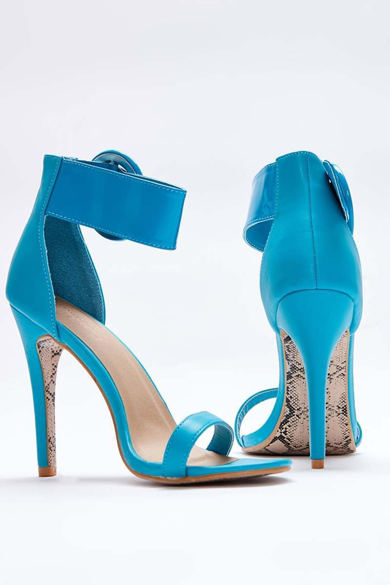 aqua patent barely there heels