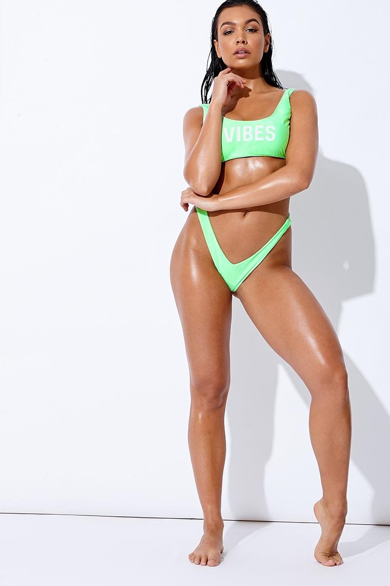 green v thong bikini bottoms
