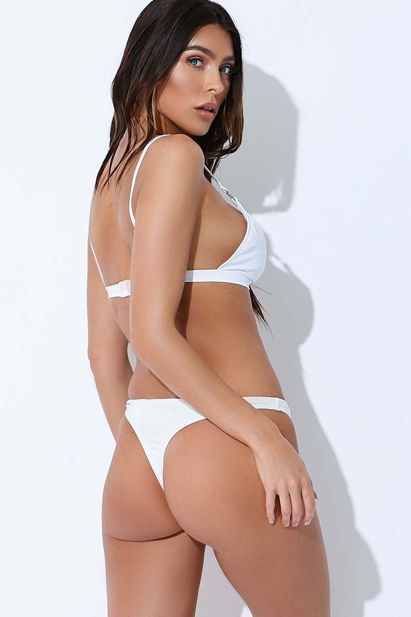 white thong bikini bottoms