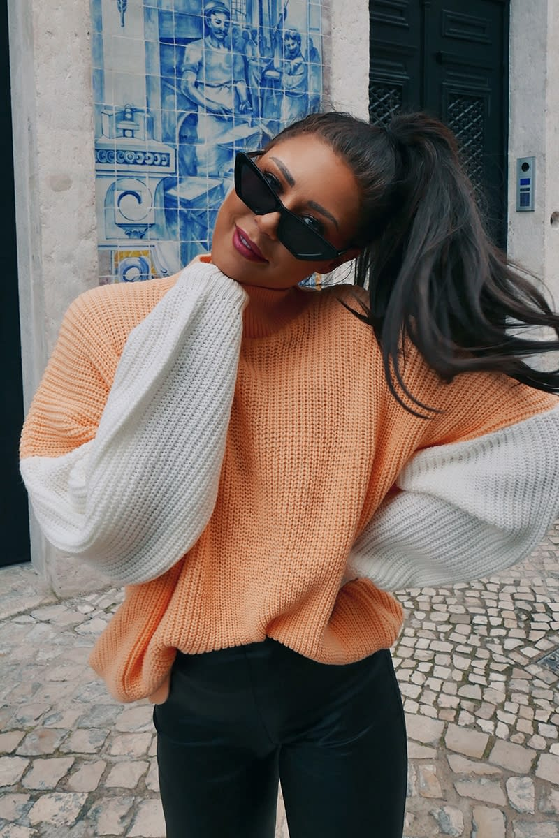 LORNA LUXE 'SUNDAY SUNDAE' APRICOT JUMPER