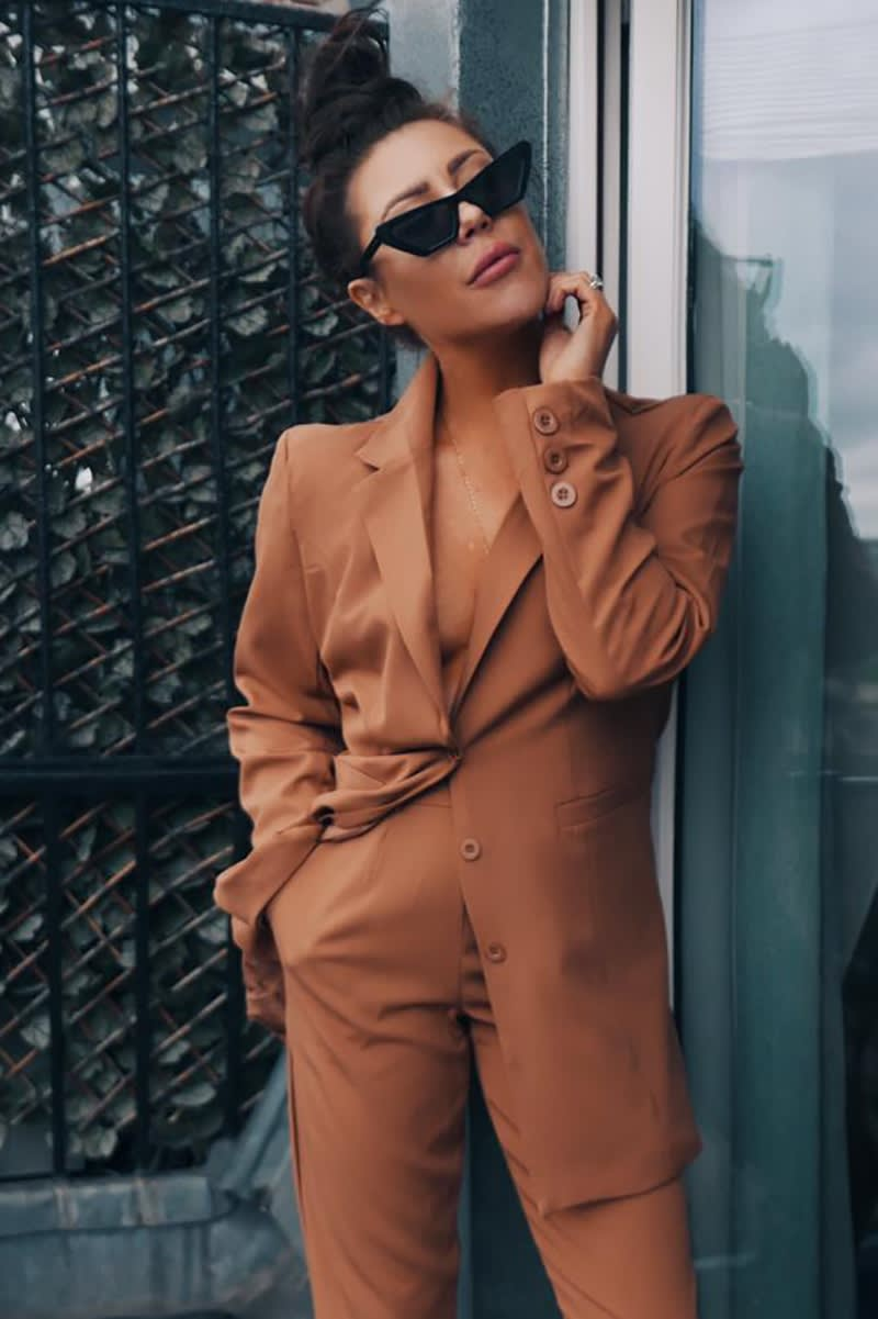 LORNA LUXE 'ALREADY TAKEN' TAN SUIT CO-ORD BLAZER