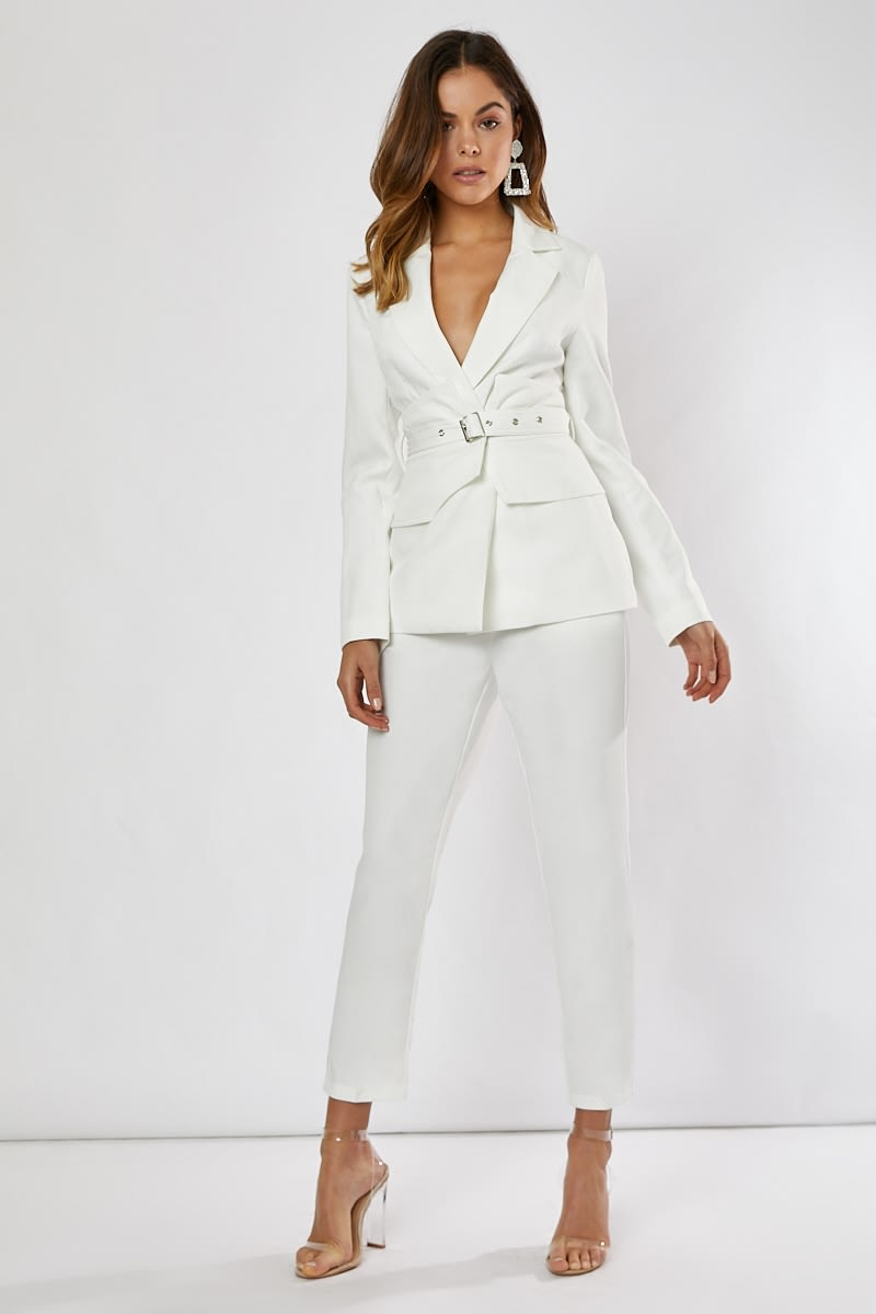 HEIDI WHITE CO-ORD CIGARETTE TROUSER