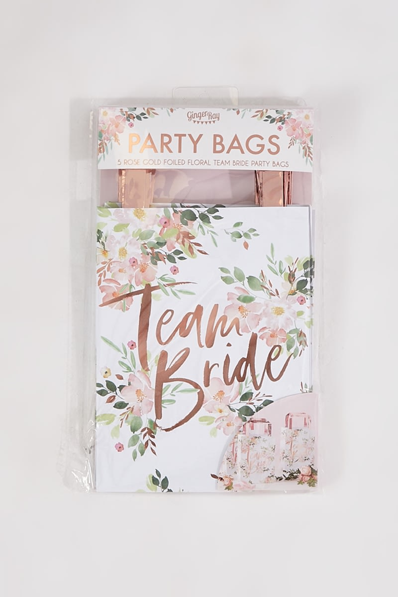 GINGER RAY FLORAL 5 PACK TEAM BRIDE PARTY BAGS