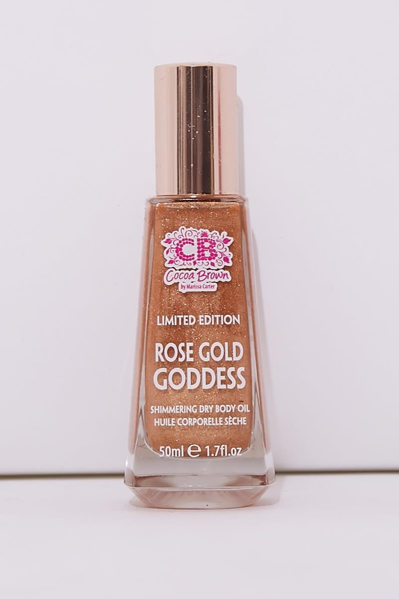 COCOA BROWN ROSE GOLD GODDESS SHIMMERING DRY BODY OIL