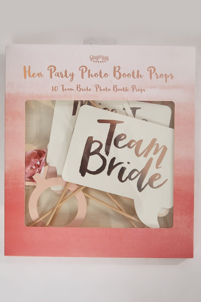 GINGER RAY HEN PARTY ROSE GOLD PHOTO BOOTH PROPS