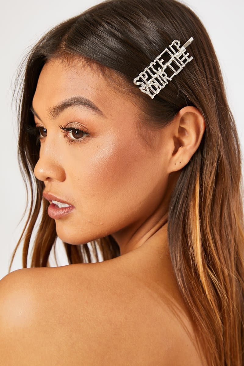 SPICE UP YOUR LIFE SILVER SPICE GIRLS CRYSTAL HAIR CLIP