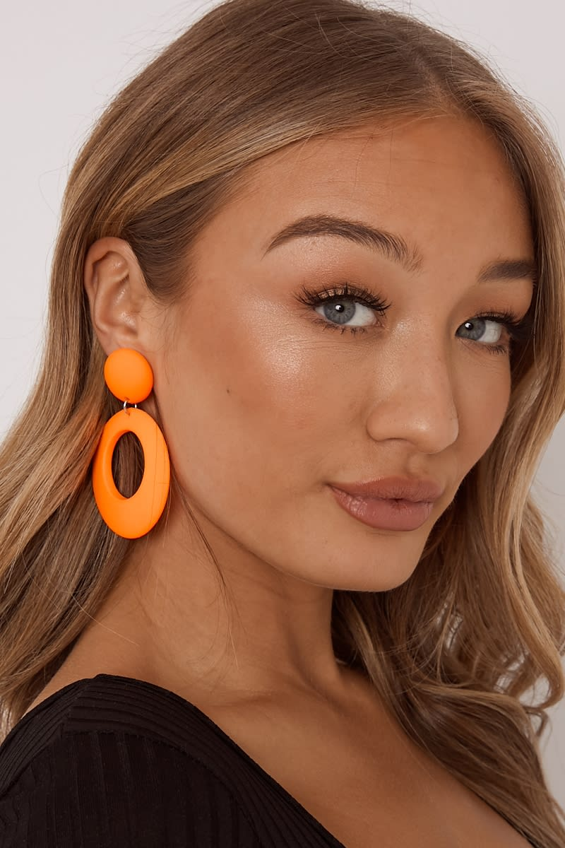 ORANGE O EARRINGS