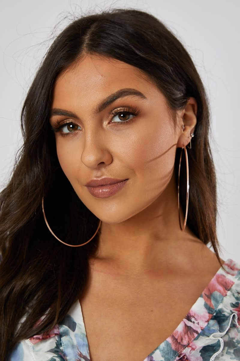 THIN ROSE GOLD HOOP EARRINGS