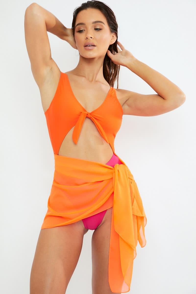 neon orange sarong