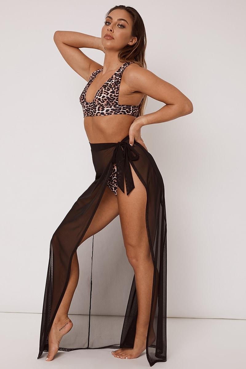 black maxi sarong