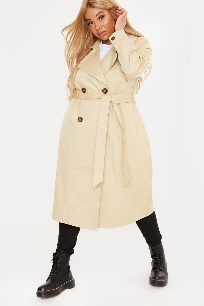 CURVE STONE BELTED TRENCH COAT