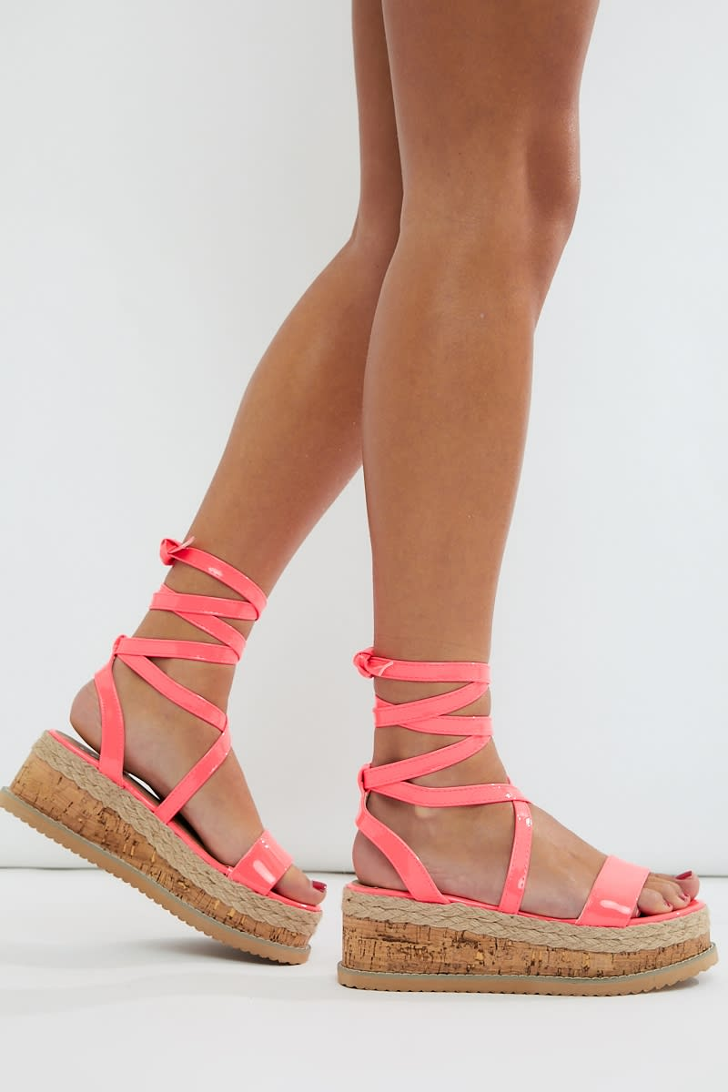neon pink espadrilles