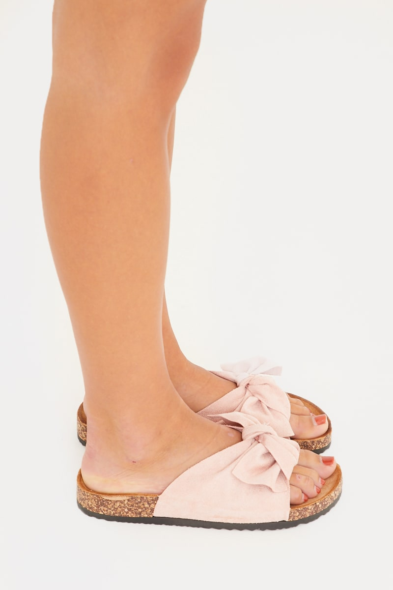 light pink bow detail sliders