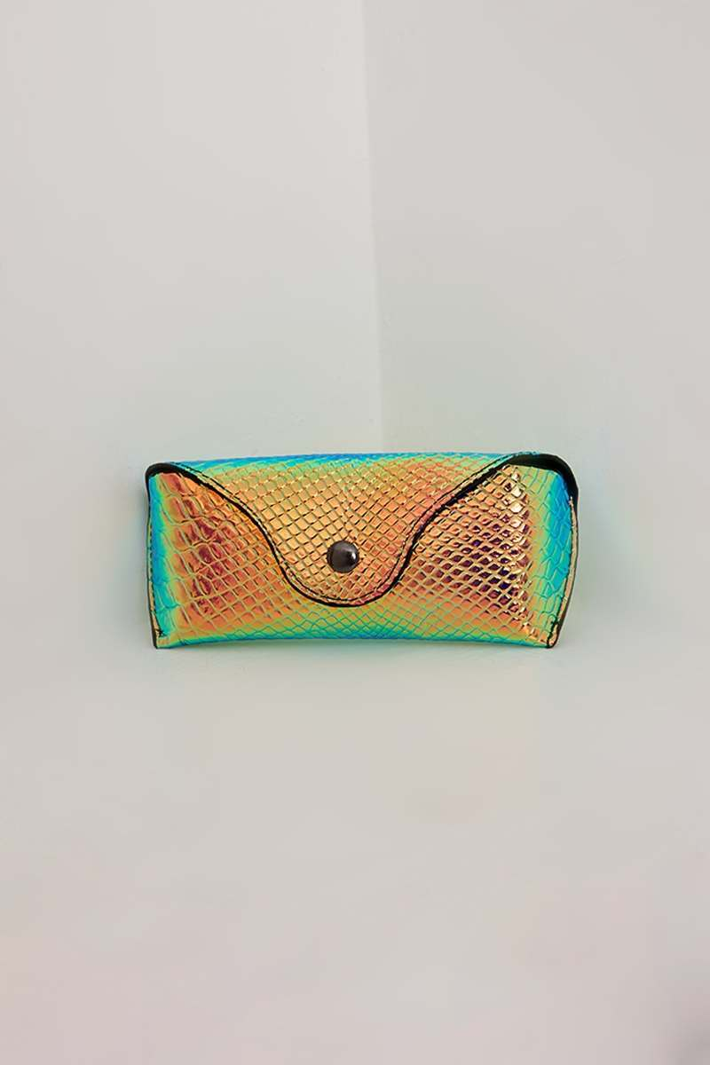 GOLD IRIDESCENT SUNGLASSES CASE