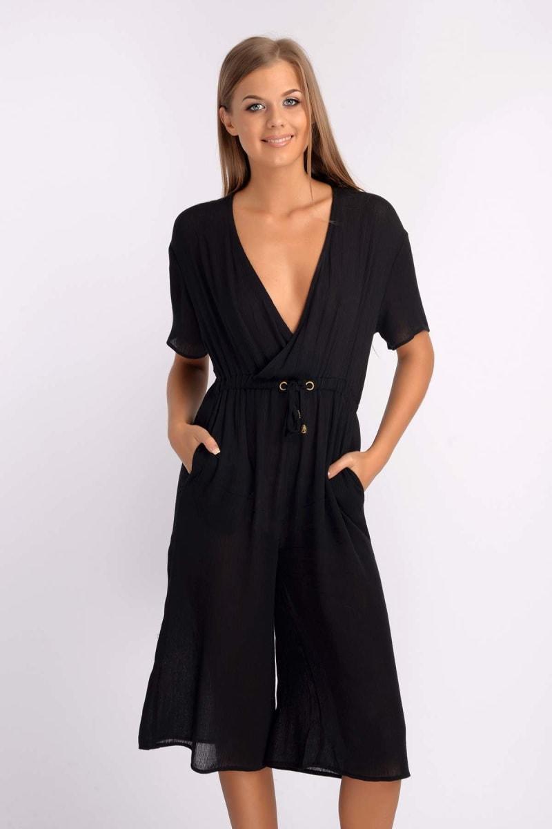 Binky Black Culotte Jumpsuit