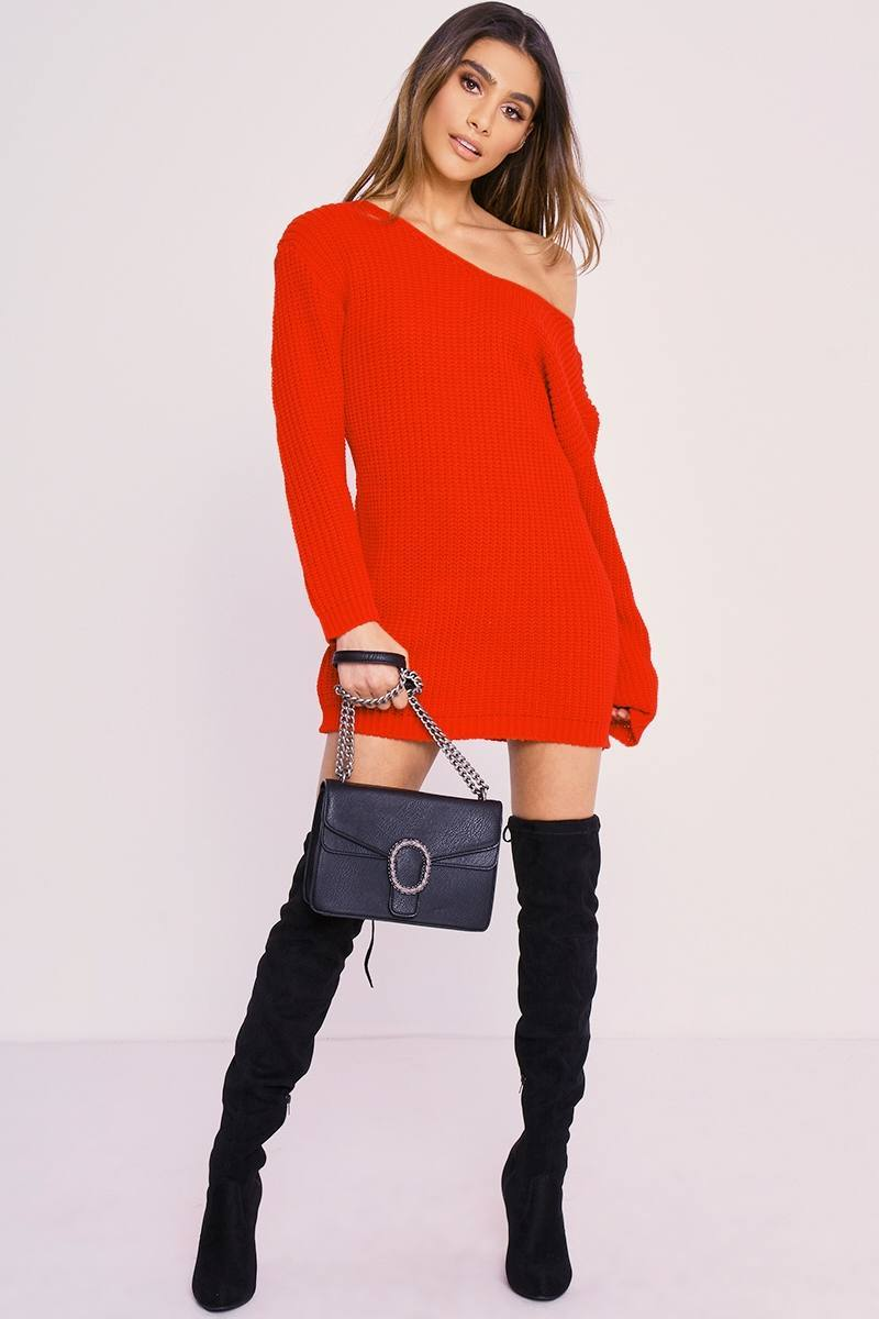 CHARLOTTE CROSBY RED JUMPER DRESS