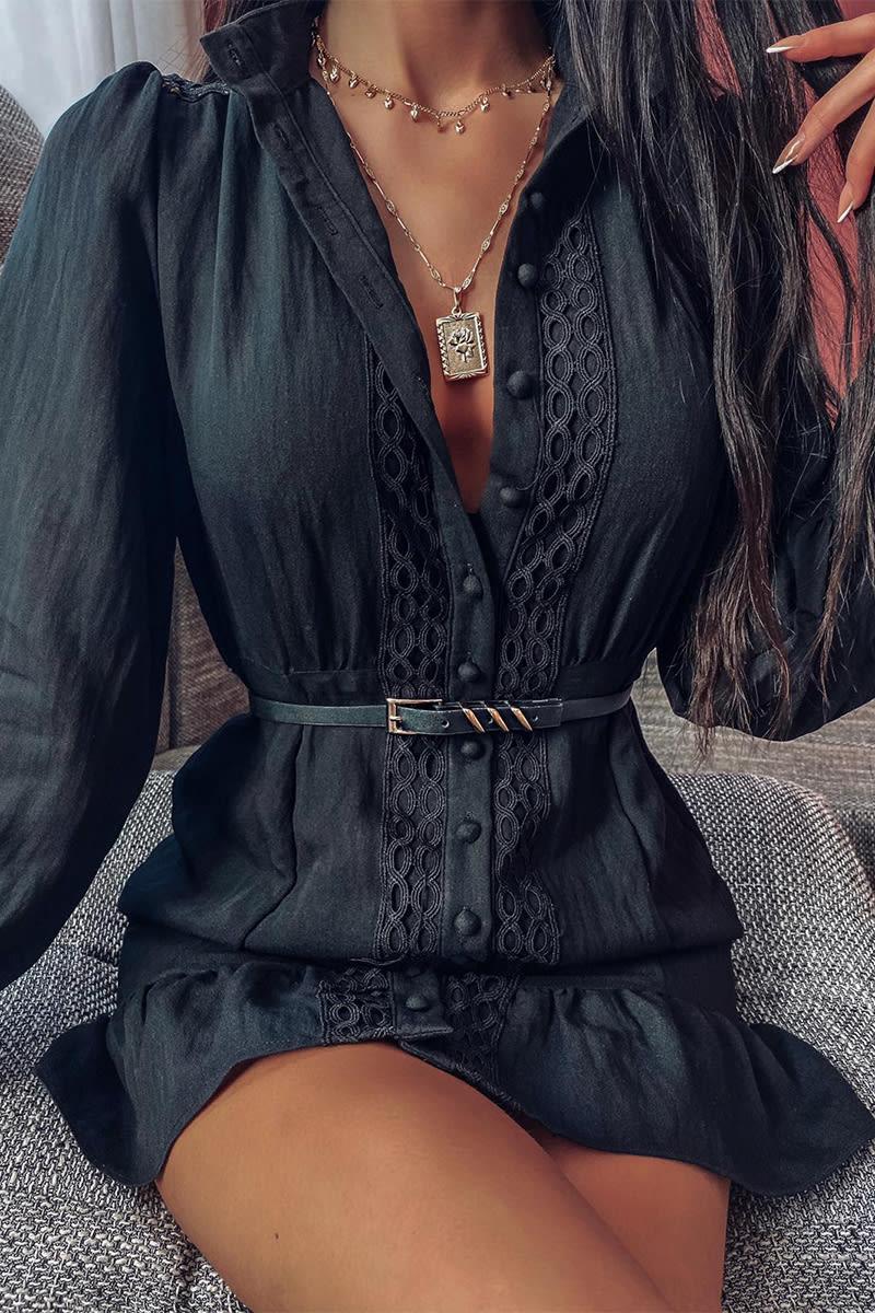 LORNA LUXE BLACK 'NEMESIS' DRESS