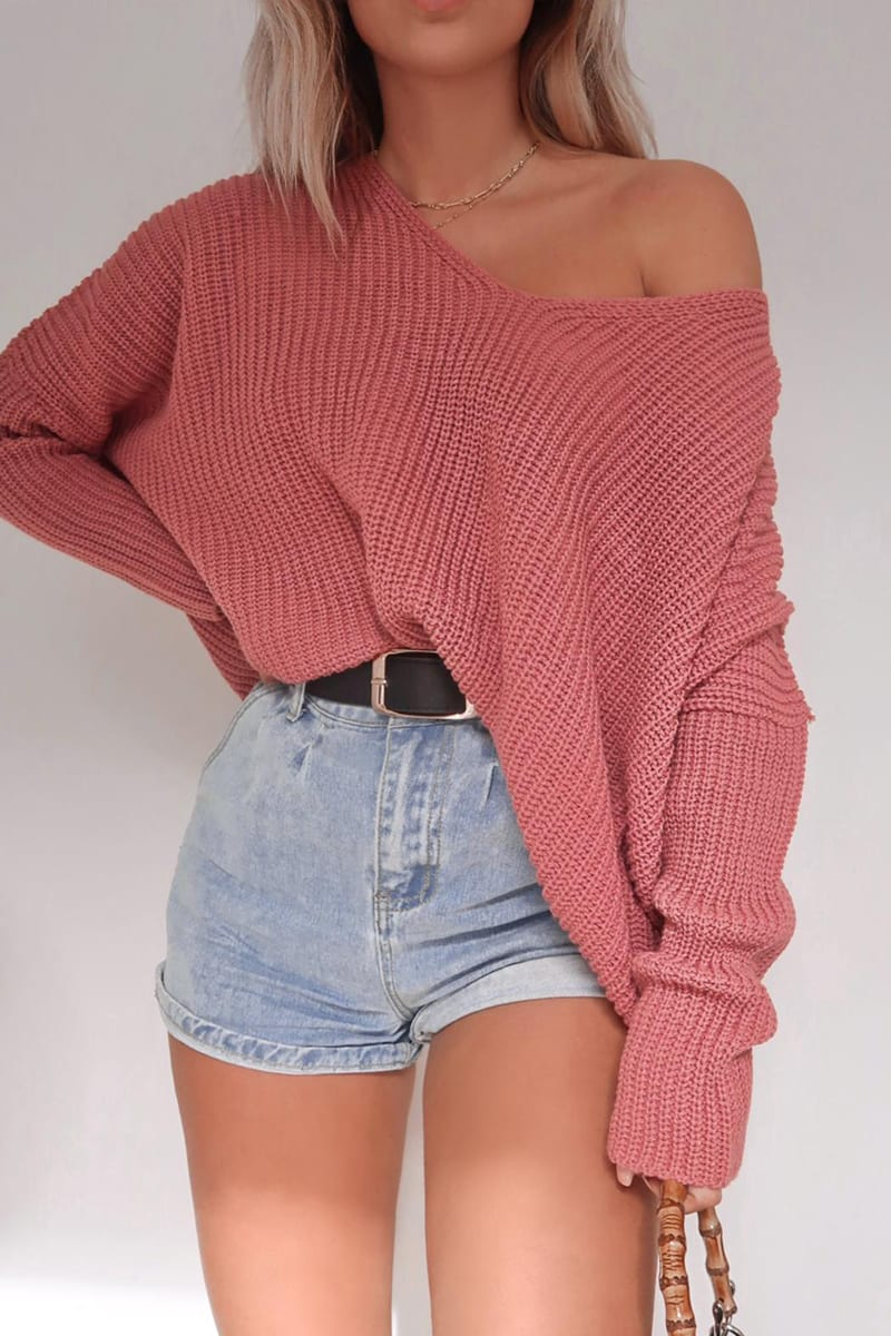 FASHION INFLUX PINK SLOUCHY JUMPER