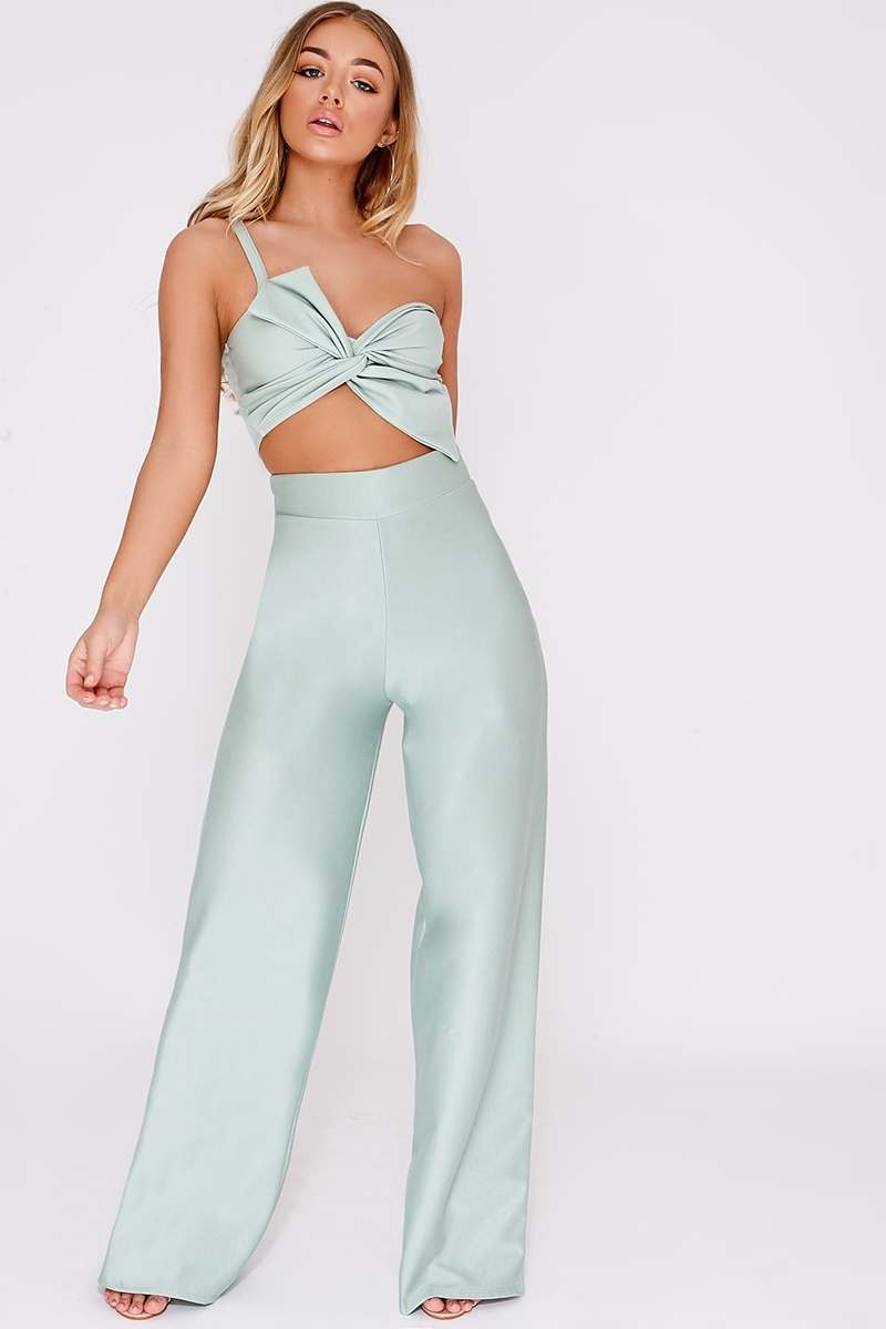 BILLIE FAIERS MINT PALAZZO TROUSERS