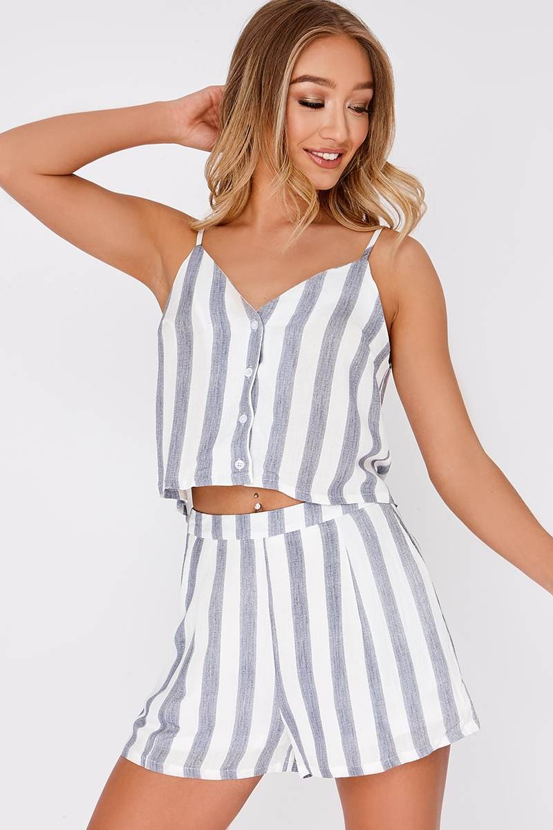 JAMELLE BLUE STRIPE SHORTS