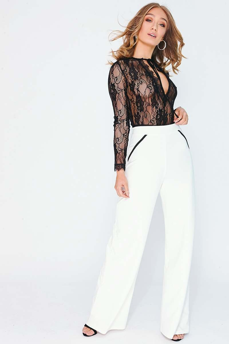 MOLLEE WHITE PIPING DETAIL TROUSERS