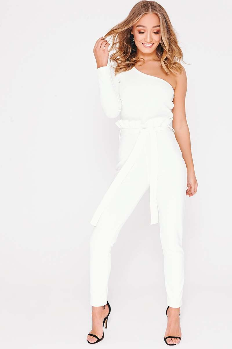 REMY WHITE PAPERBAG WAIST JUMPSUIT