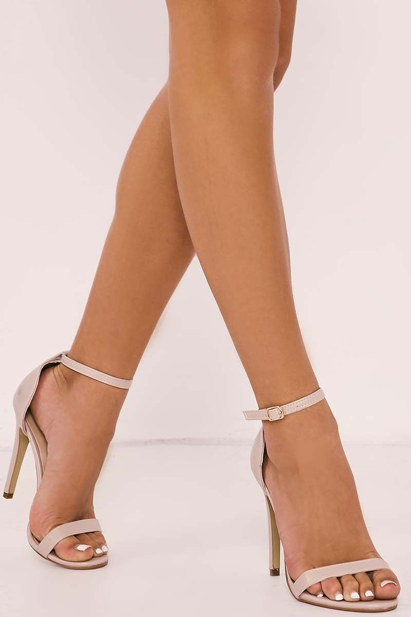 MARNEY NUDE ANKLE STRAP BARELY THERE HEELS